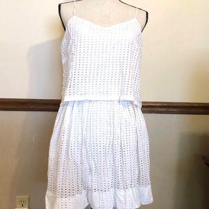 MADEWELL Gorgeous White Eyelet Layered Dress